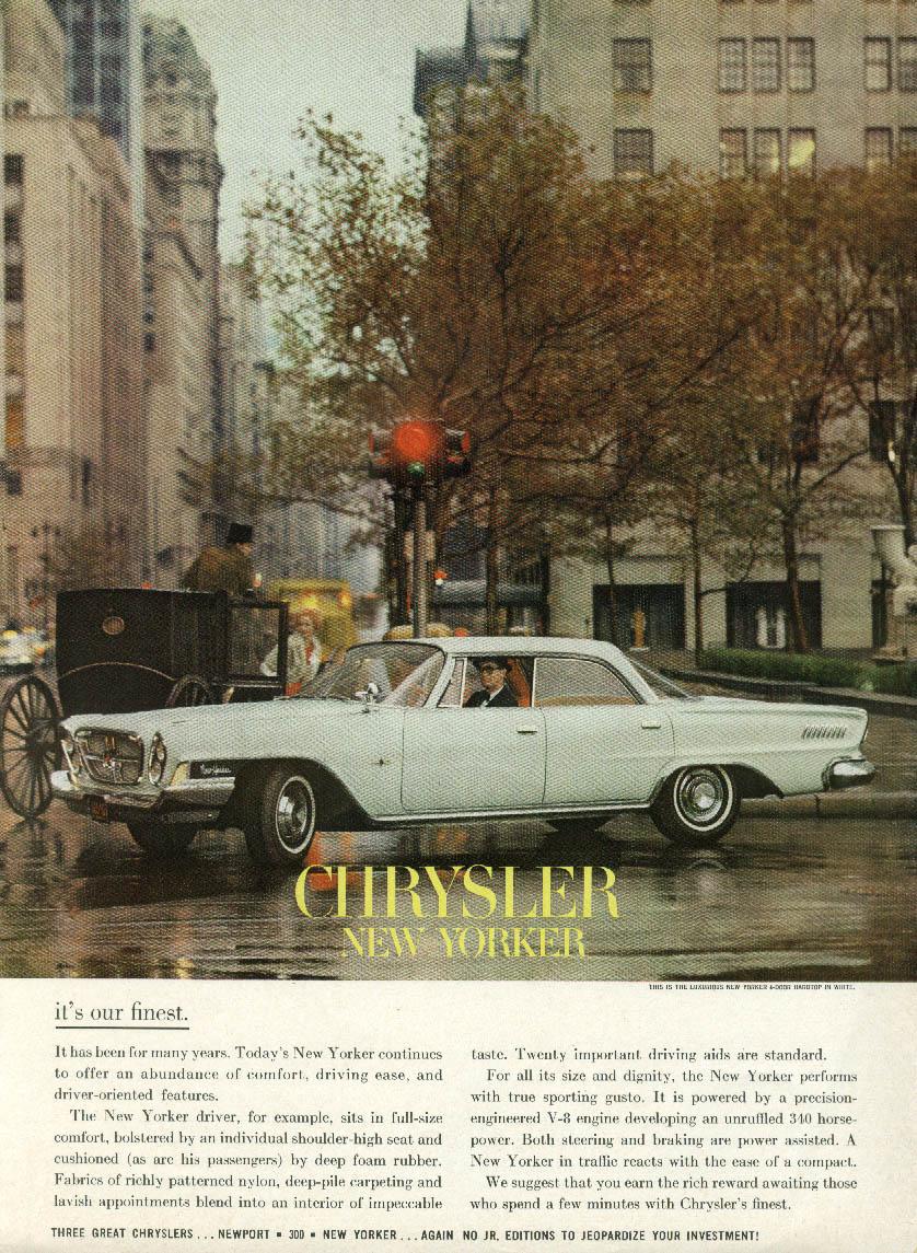It's our finest - Chrysler New Yorker 4-door Hardtop ad 1962