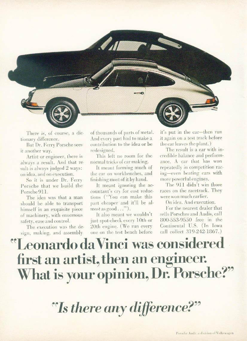 Image for Leonardo da Vinci was 1st an artist then an engineer Porsche 911 ad1971