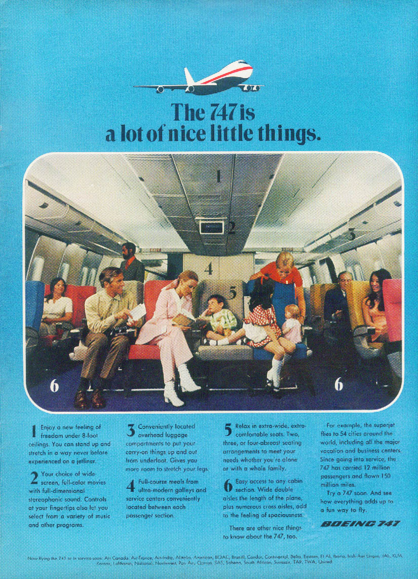 The Boeing 747 is a lot of nice little things ad 1971