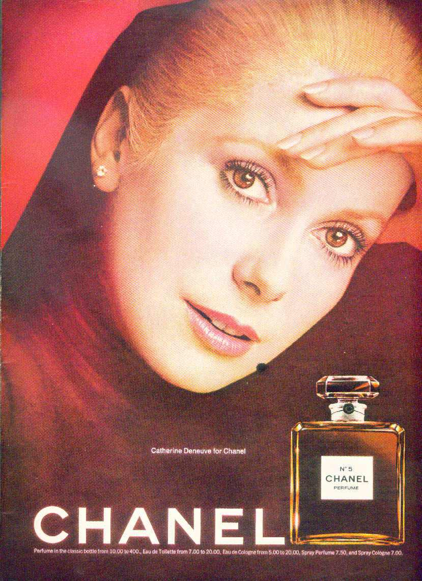 Catherine Deneuve for Chanel No. 5 ad NY 2/11/1974