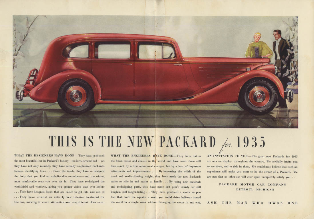 This is the new Packard for 1935 ad NY
