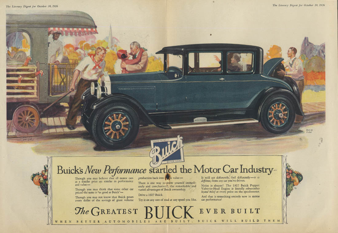 Buick's New Performance Started the Motor Car Industry ad 1927 LD
