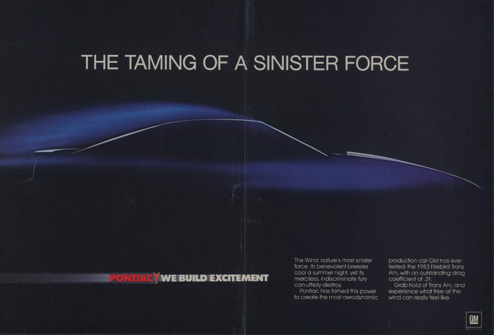 The Taming of a Sinister Force - Pontiac Firebird Trans Am ad 1983 C&D