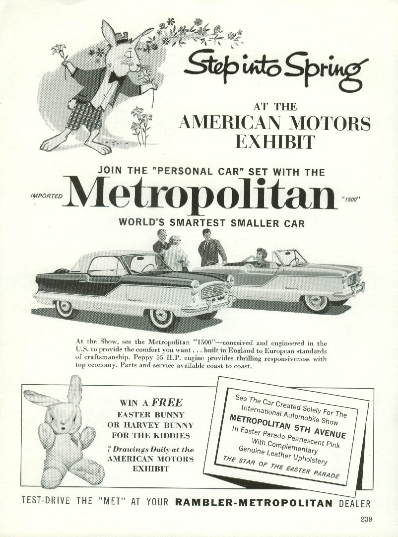 Step into Spring at the American Motors Metropolitan exhibit ad 1960