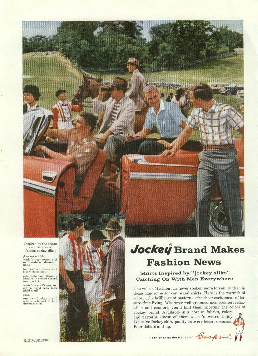 Jockey Brand Shirts Make Fashion News ad 1959 Dodge Convertible
