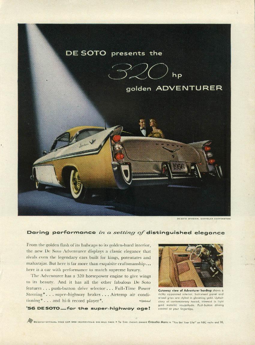 The 320hp Golden Adventurer by De Soto ad 1956 DeSoto NY