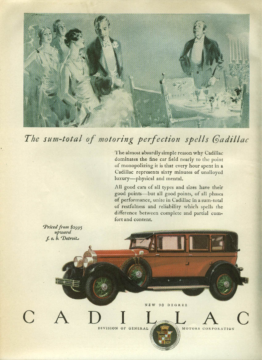 The sum-total of motoring perfection Cadillac Sedan ad 1927 LD