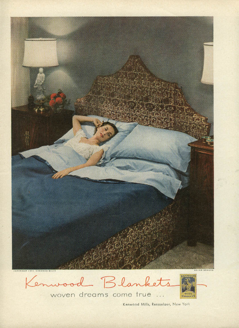 Woven dreams come true Kenwood Blankets ad 1951 Anton Bruehl photo