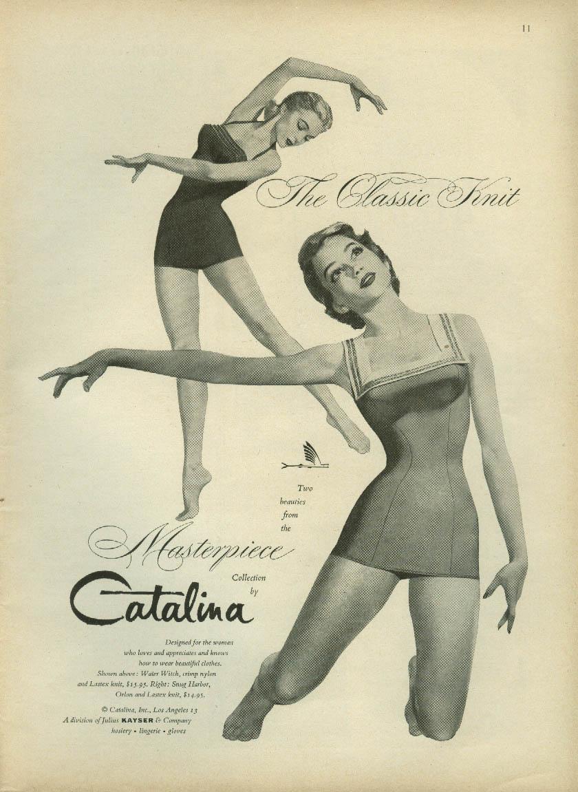 The Classic Knit Catalina Swimsuits ad 1955 NY
