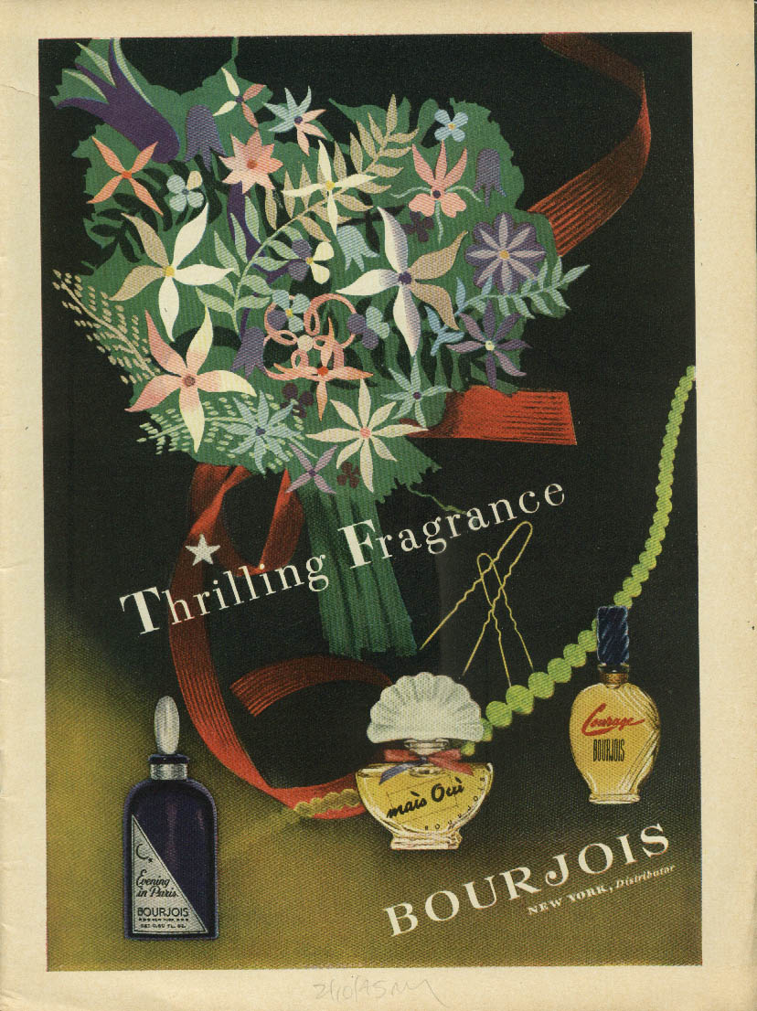 Swoon-glo Swimsuit Cole of California Ren Wicks / Bourjois Perfume ad 1945