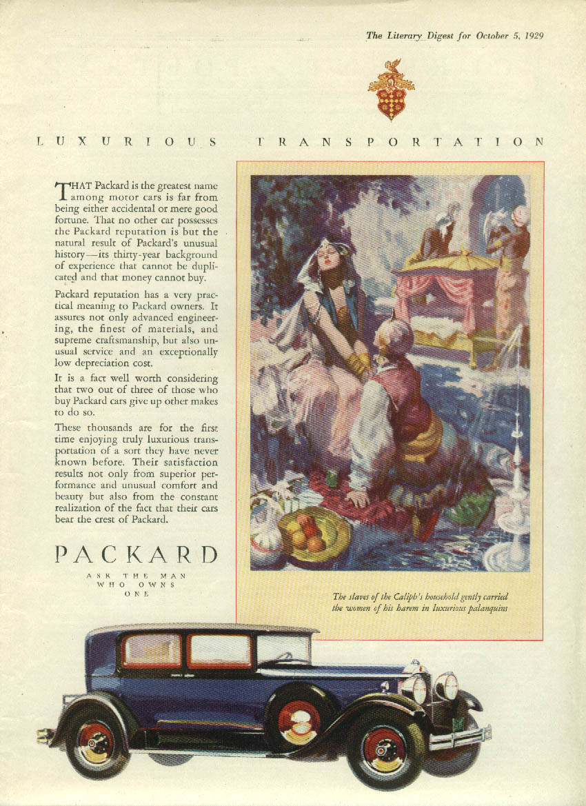 The greatest name is far from accidental Packard 4-door Sedan ad 1930 LD