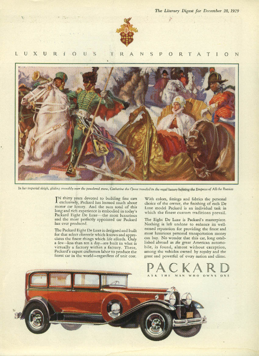 30 years devoted to building fine cars exclusively Packard Sedan ad 1930 LD