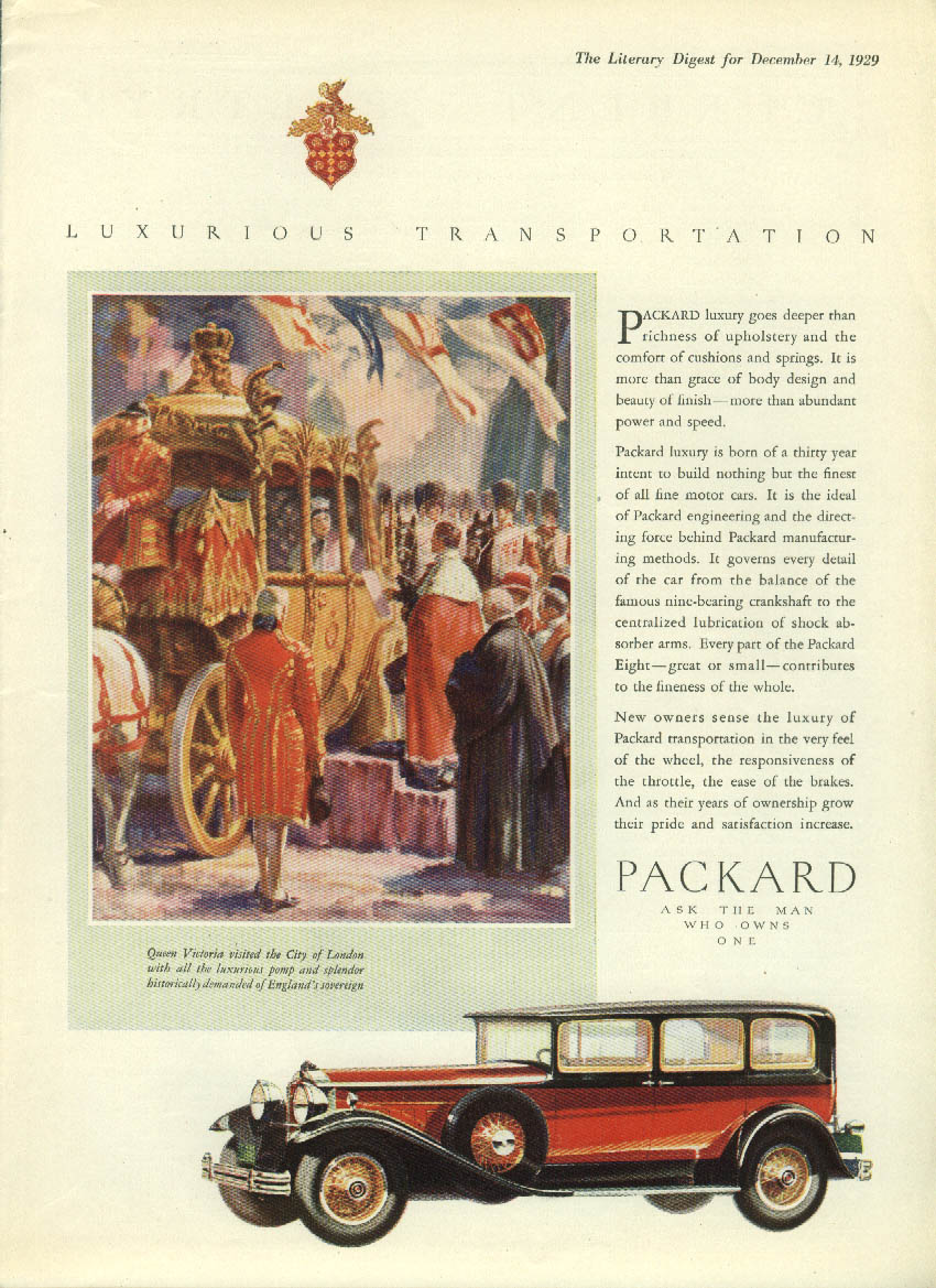 Luxury goes deeper than richness of upholstery Packard Sedan ad 1930 LD