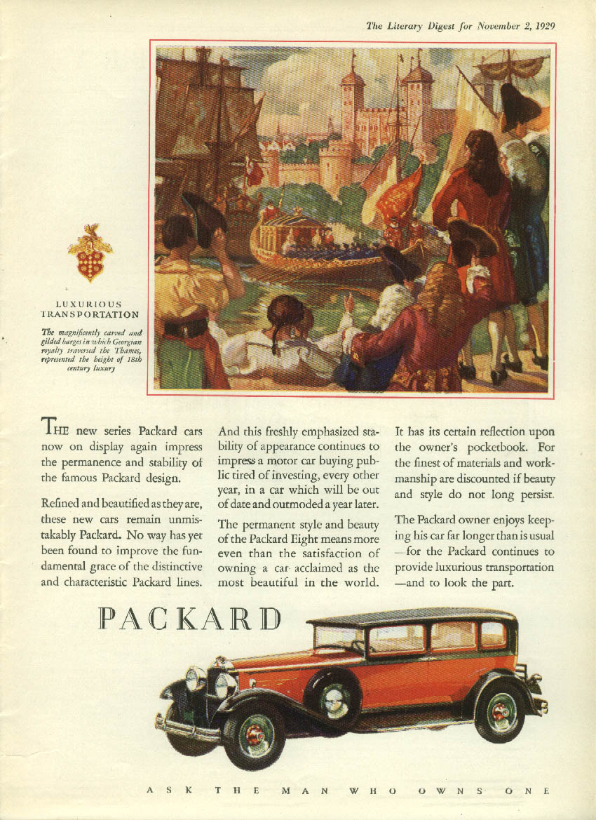 New series impress the permanence & stability Packard Sedan ad 1930 LD