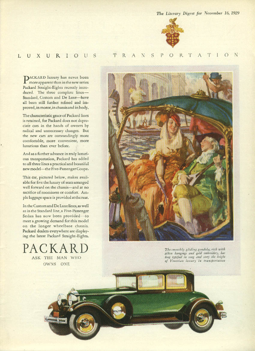 Luxury has never been more apparent Packard Coupe ad 1930 LD