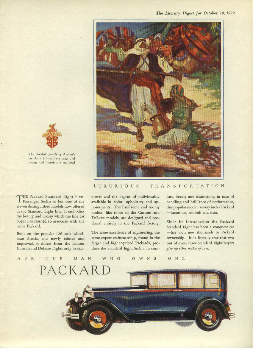 But one of eleven distinguished models Packard Sedan ad 1930 LD