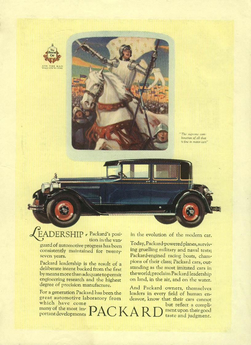 Leadership - in the vanguard of progress Packard Club Sedan ad 1927 Mentor