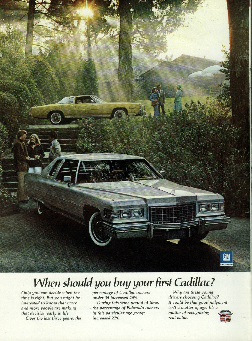 When should you buy your first Cadillac Coupe de Ville & Eldorado ad 1976 NY
