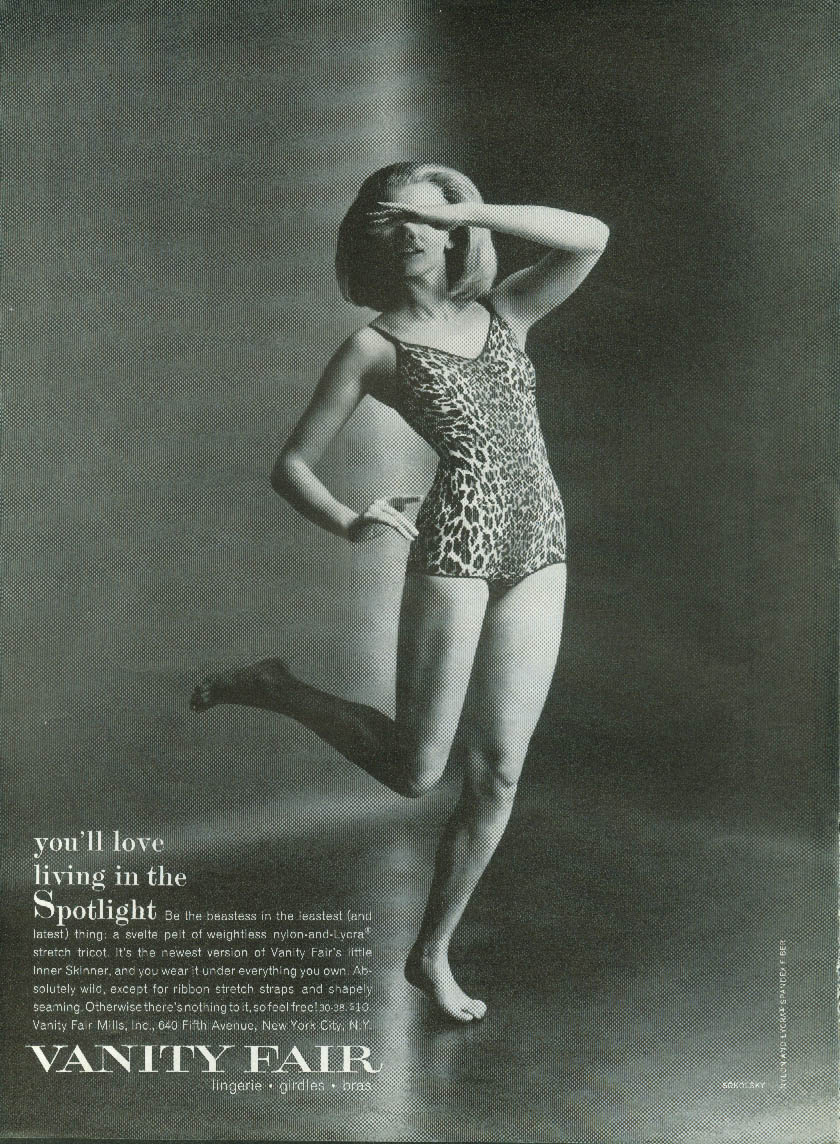 You'll love it in the Spotlight Inner Skinner Bodysuit underwear ad 1963 NY
