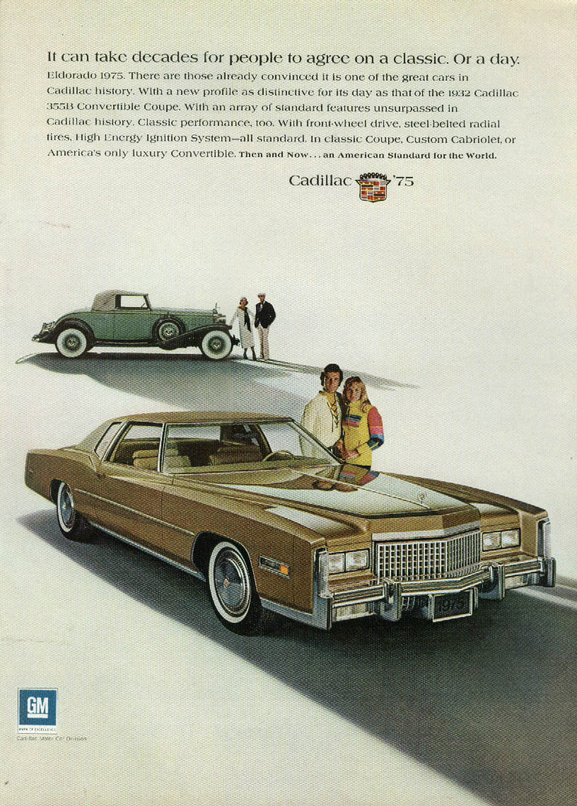 It can take decades for people to agree Cadillac Eldorado ad 1975 NY 1932