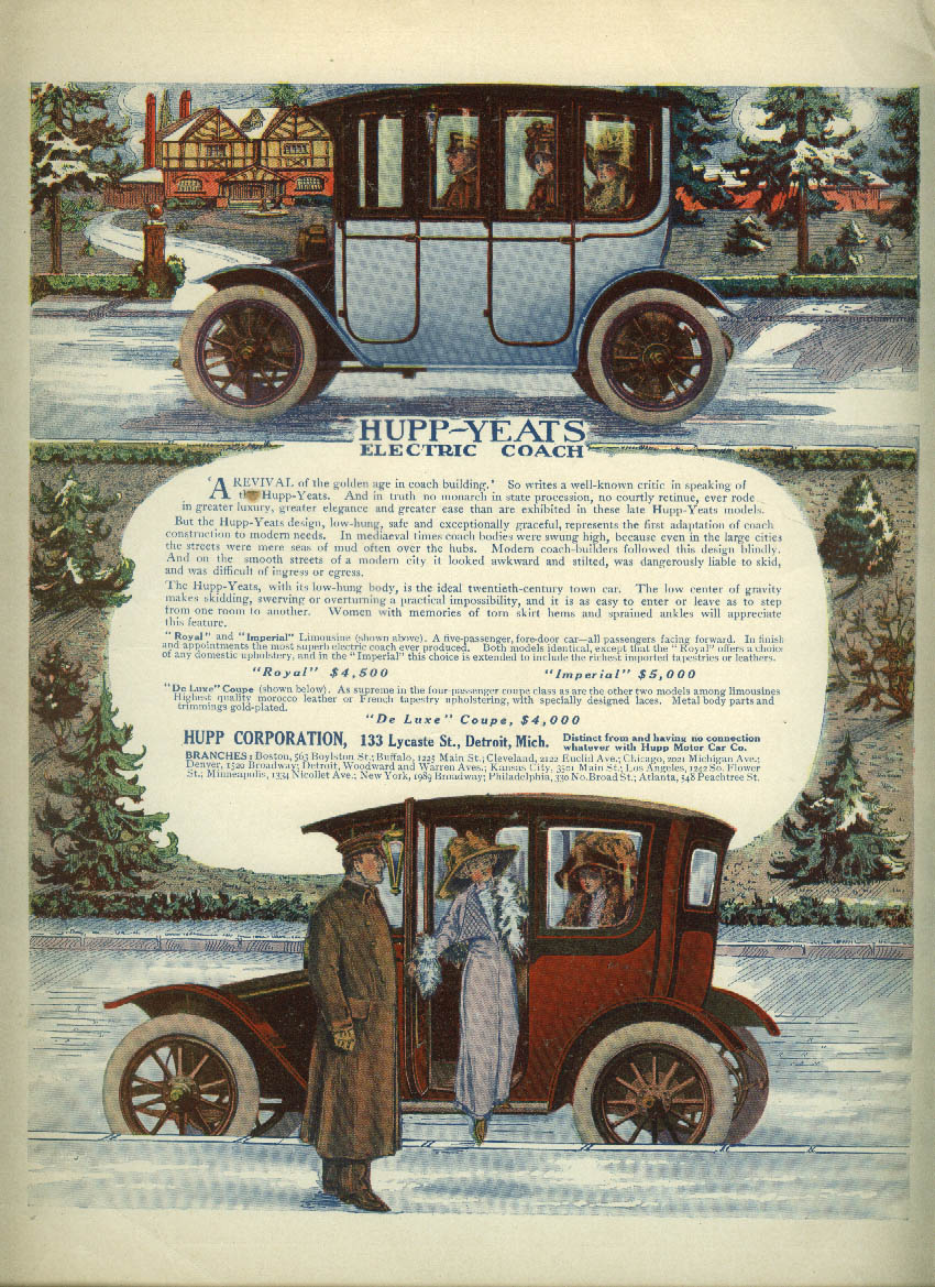 A revival of the golden age of coachbuilding Hupp-Yeats Electric Car ad 1912