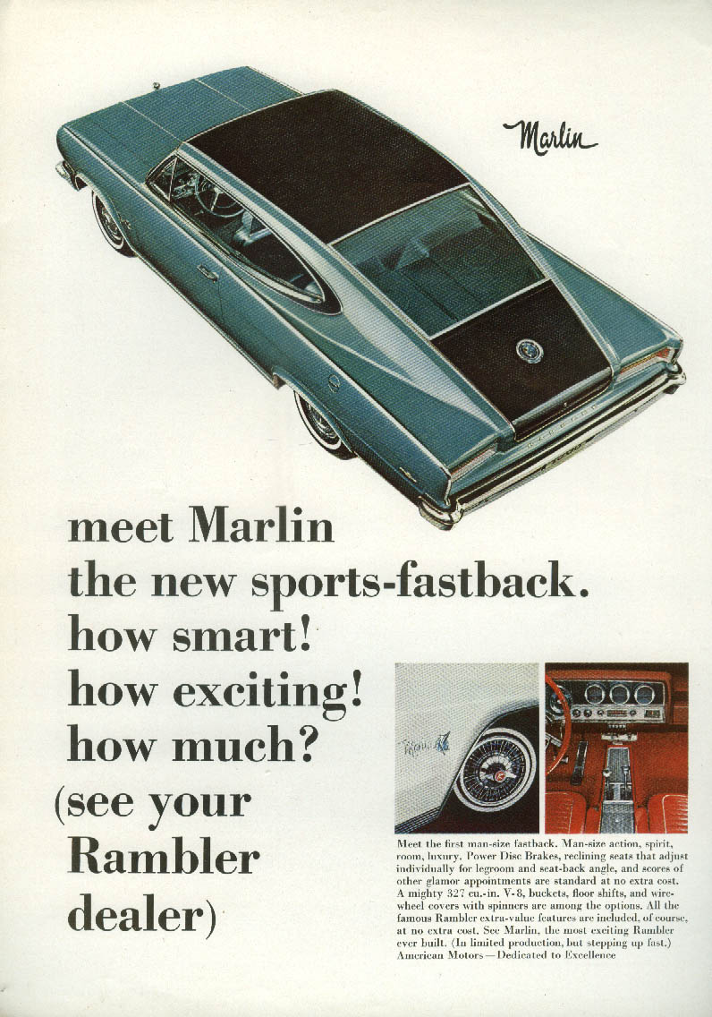 How smart! How exciting! How much? AMC Marlin ad 1965 NY