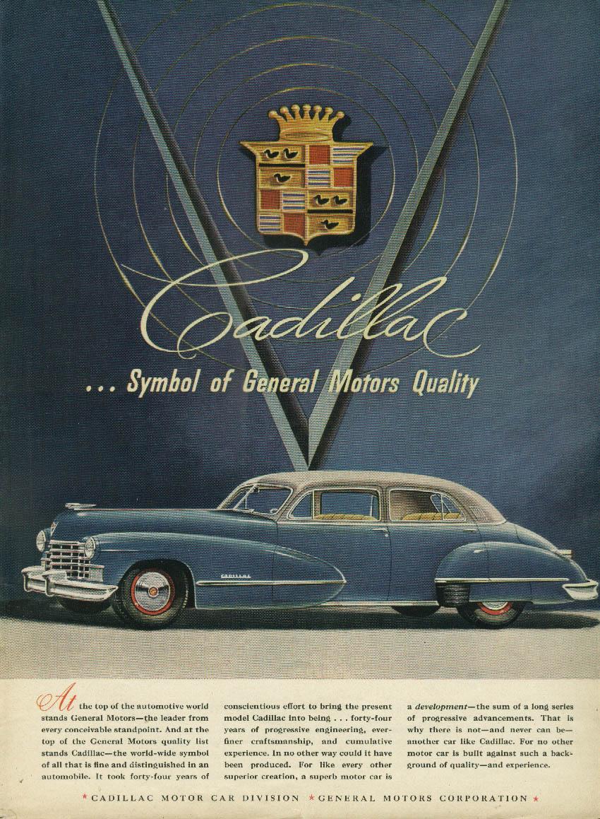 At the top of the automotive world Cadillac 4-door sedan ad 1946 NY