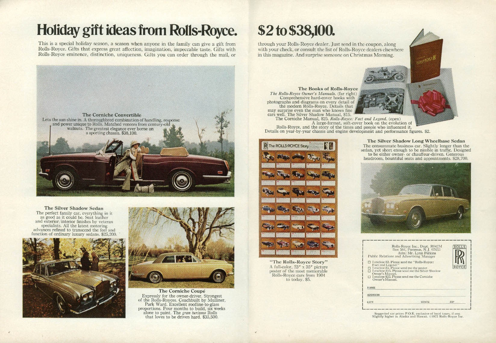 Image for Holiday gift ideas from Rolls-Royce $2 to $38,100 ad 1972