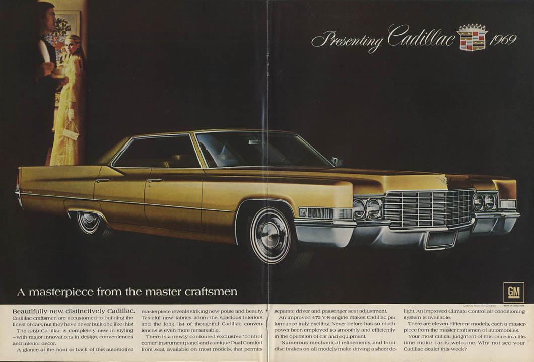 From the master craftsmen Cadillac Sedan de Ville & Eldorado ad 1969 USN