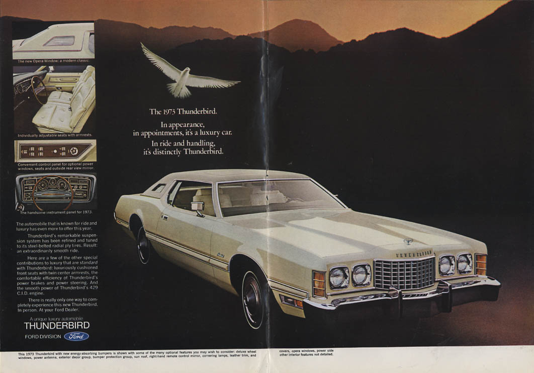 Image for In ride & handling it's distinctly Thunderbird ad 1973 NY