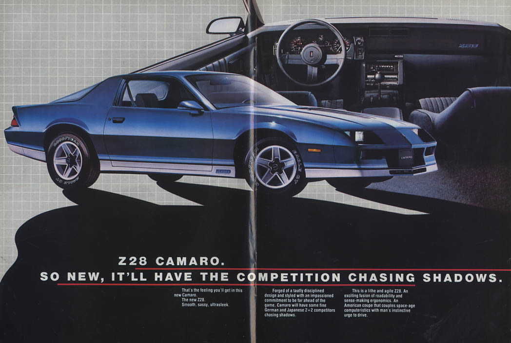 Cast a new Shadow on the Street Camaro Z28 Berlinetta Sport Coupe ad 1982