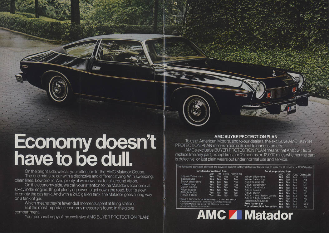 Image for Economy doesnt have to be dull AMC Matador Coupe ad 1976 NY