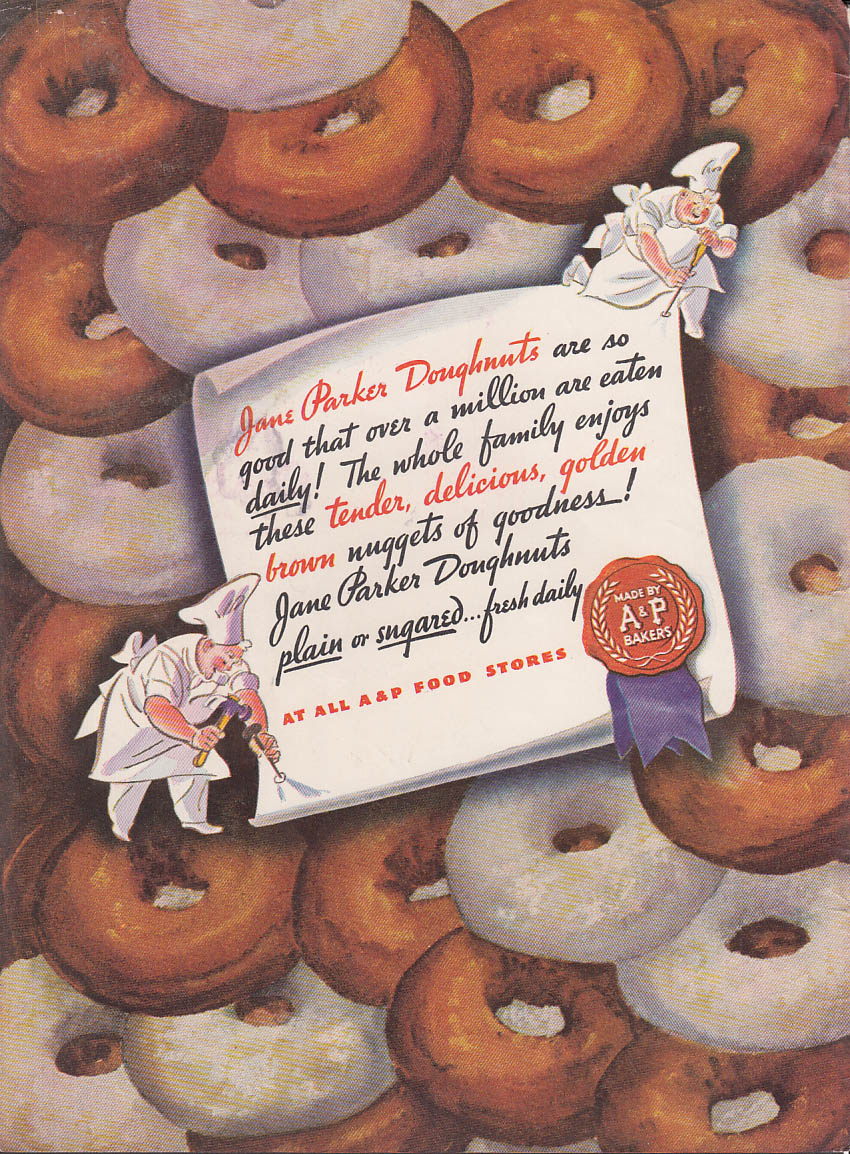Image for Over half a million are eaten daily Jane Parker A&P Donuts ad 1940