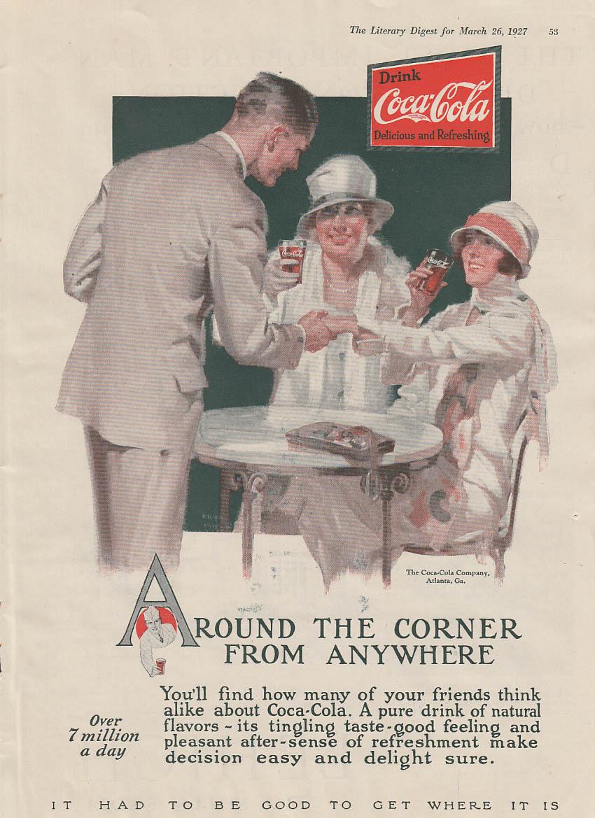 Around the corner from anywhere Coca-Cola ad 1927 LD