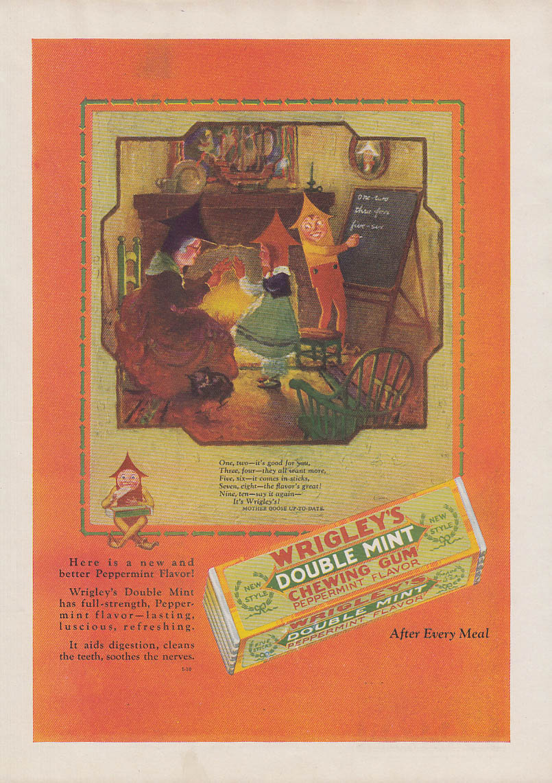 Image for One, two - it's good for you Wirgley's Double Mint Gum ad 1928 AM