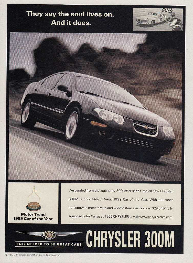 Image for They say the soul lives on - And it does Chrysler 300M ad 1999