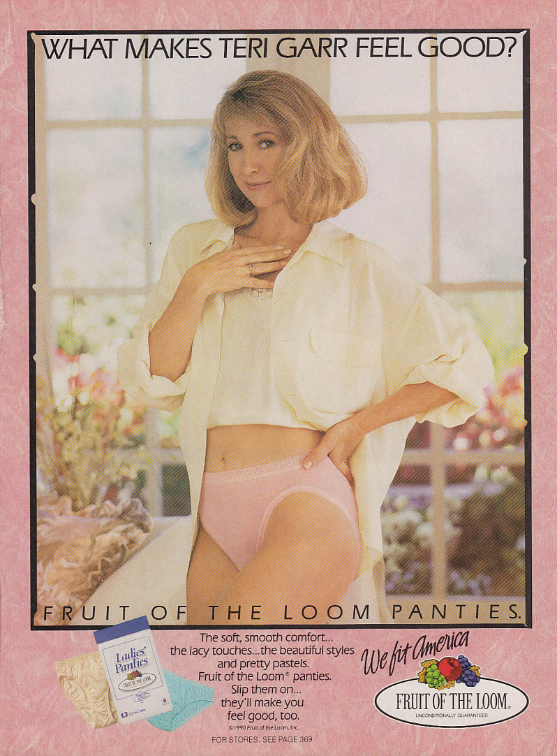what makes teri garr feel good fruit of the loom panties ad 1990. Black Bedroom Furniture Sets. Home Design Ideas