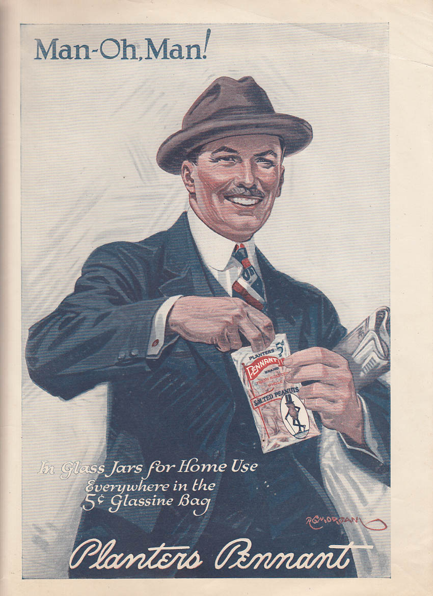 Image for Man-Oh, Man! Planters Pennant Peanuts ad 1921