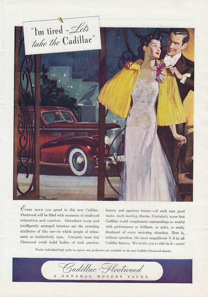 I'm tired - Let's take the Cadillac Fleetwood ad 1938 T