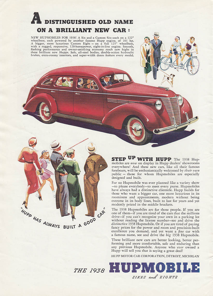 Fred MacMurray Campbell Soup  / Brilliant new Hupmobile ad 1938 T