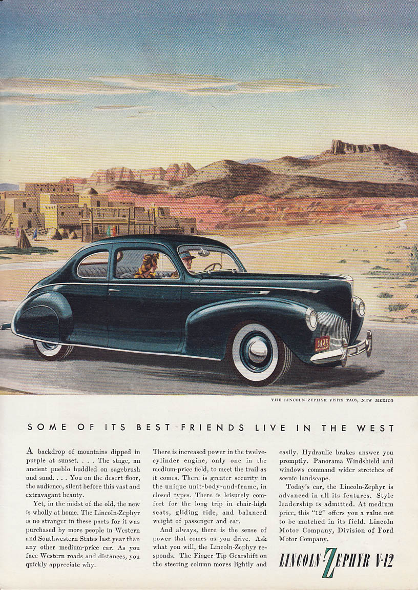 Image for Some of its best friends live in the West Lincoln-Zephyr V-12 Coupe ad 1940 T