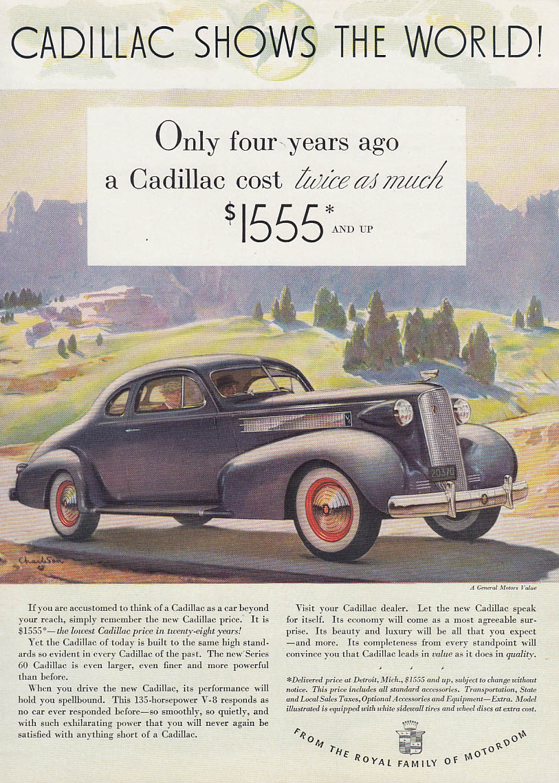 Image for Only four years ago a Cadillac cost twice as much Series 60 Coupe ad 1937 T