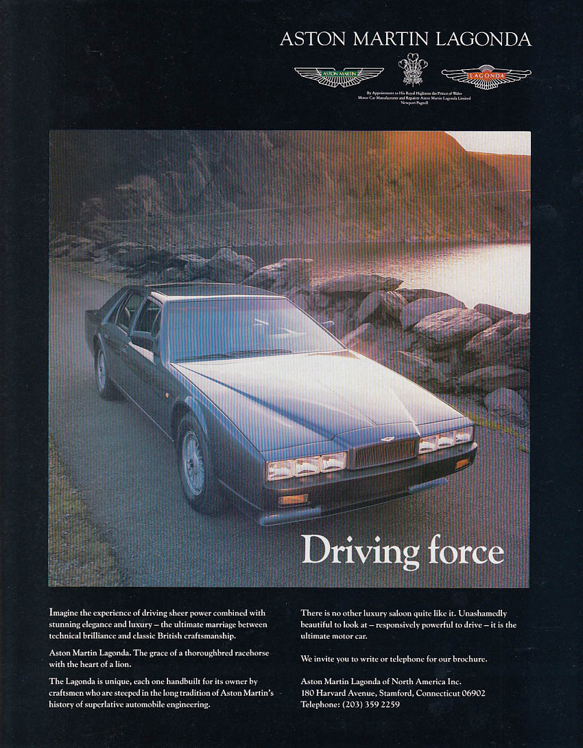 Image for Driving force - Aston Martin Lagonda ad 1988 T&C
