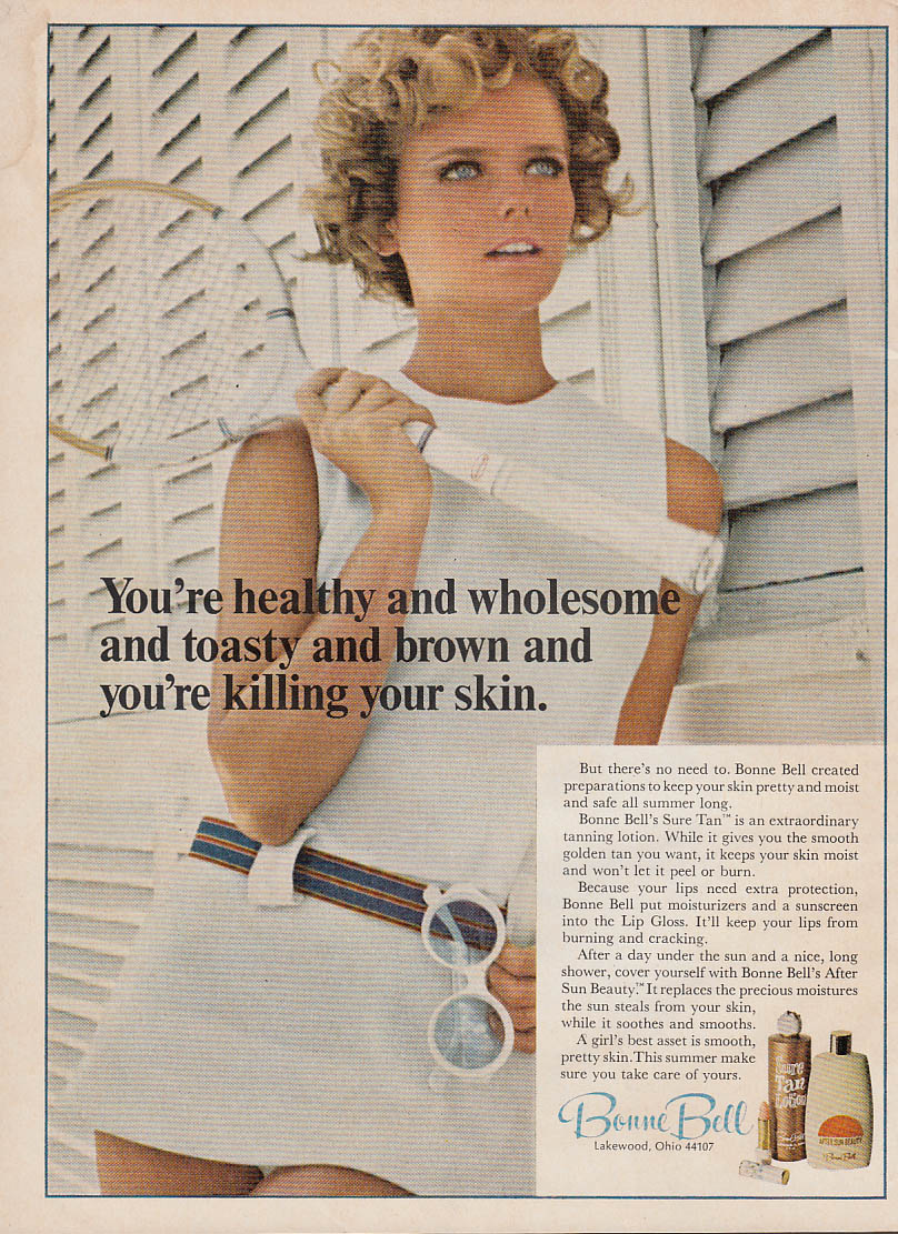 Image for Healthy & wholesome & toasty & brown Bonne Bell Sure Tan ad 1969 Cheryl Tiegs