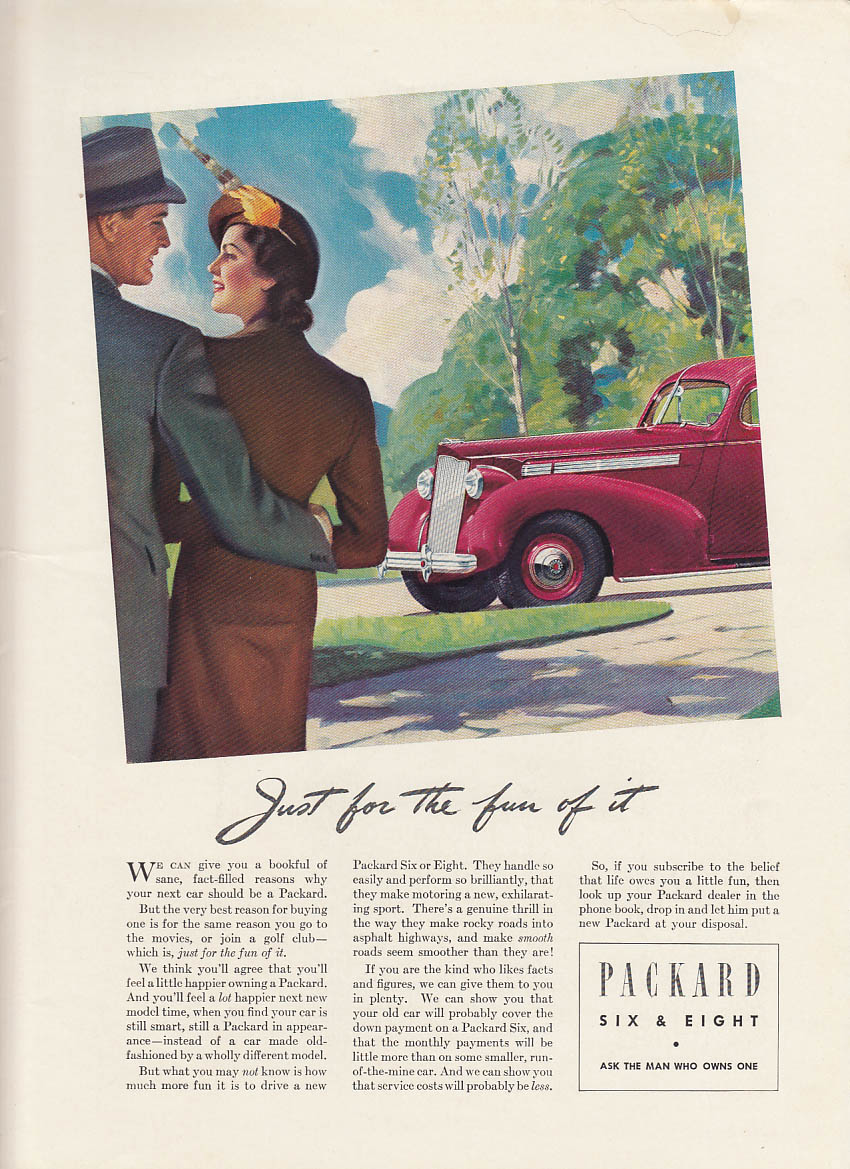 Just for the fun of it - Packard Six or Eight ad 1938 NY