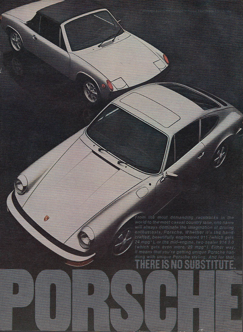 From the most demanding race tracks Porsche 911 914 2.0 ad 1974