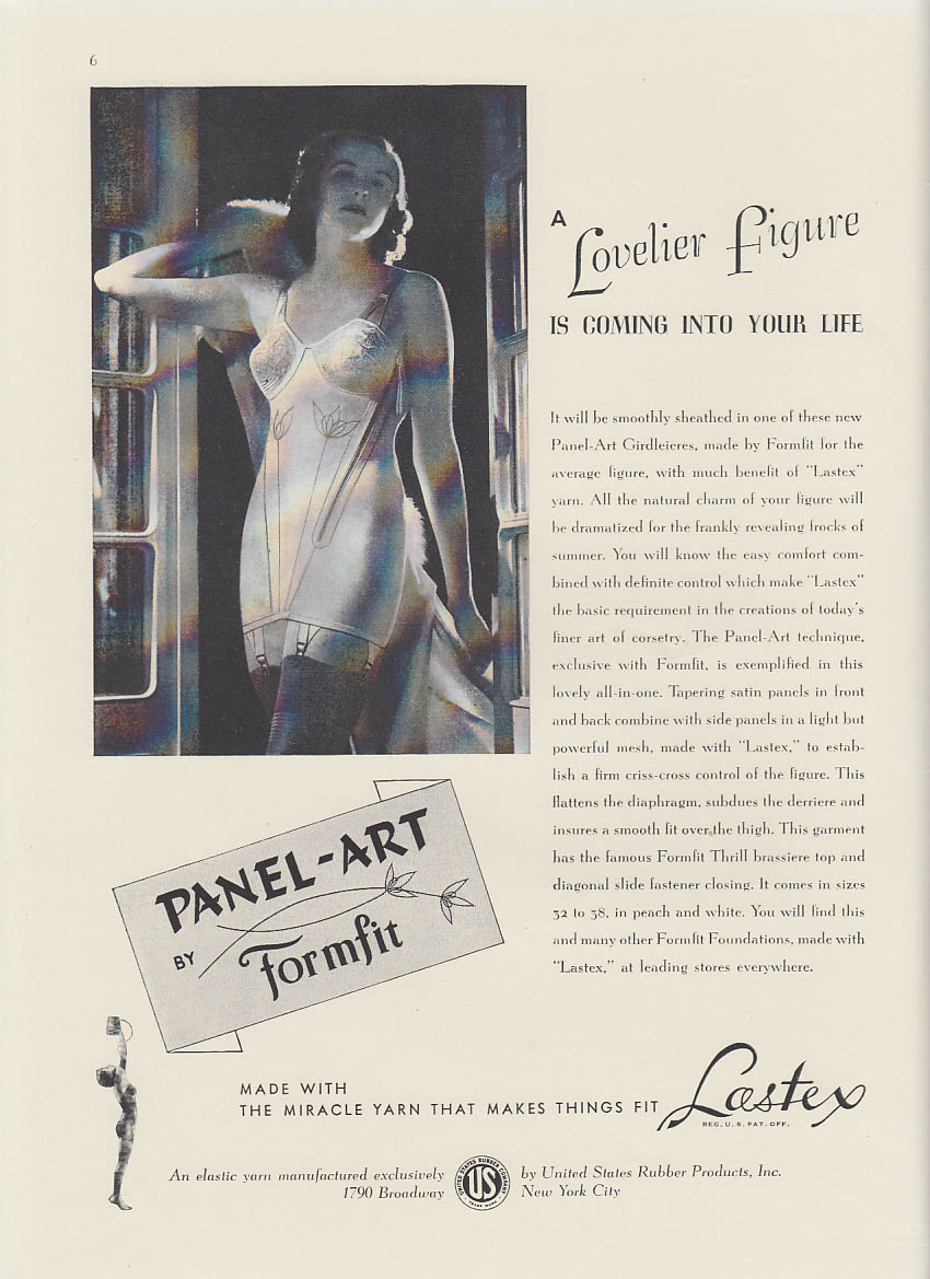 A Lovelier Figure is Coming into Your Life Fromfit Lastex Girdle ad 1938