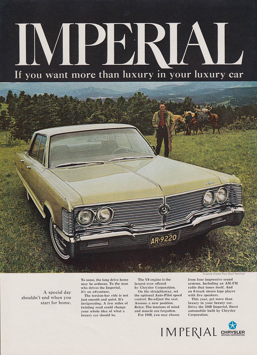 A special day shouldn't end when you start for home Imperial by Chrysler ad 1968