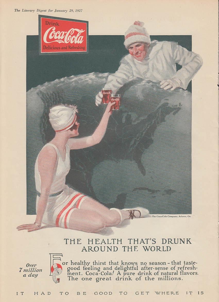 The health that's drunk around the world Coca-Cola ad 1927 LD