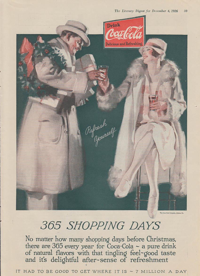 365 shopping days Coca-Cola Christmas ad 1926 LD